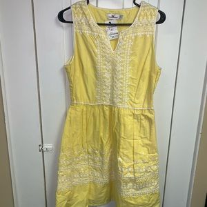Yellow vineyard vine dress